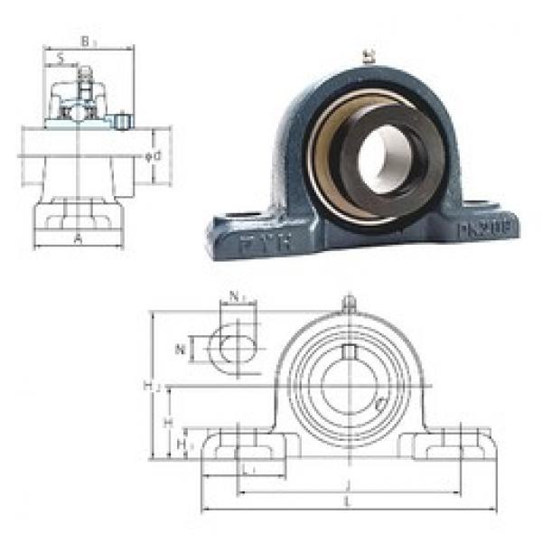 FYH NAPK211-35 bearing units #3 image