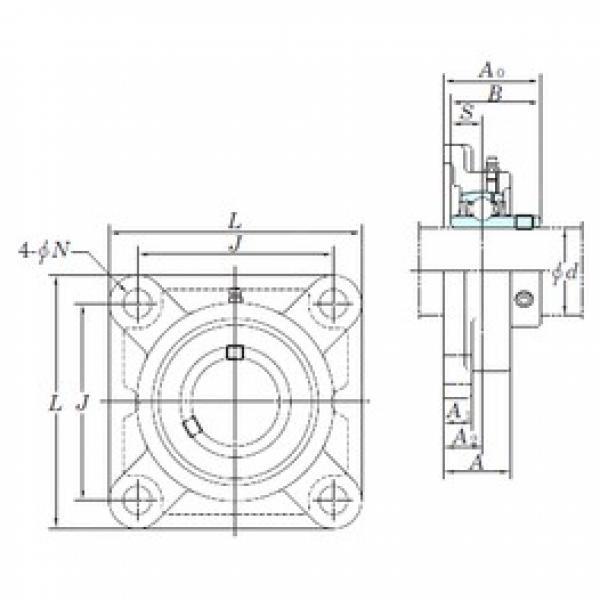 KOYO UCF212 bearing units #3 image