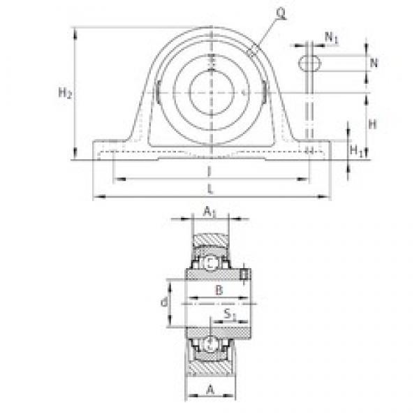 INA RAKY1 bearing units #3 image