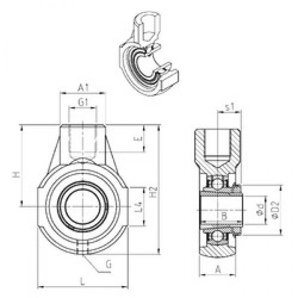 SNR UKEHE208H bearing units #3 image