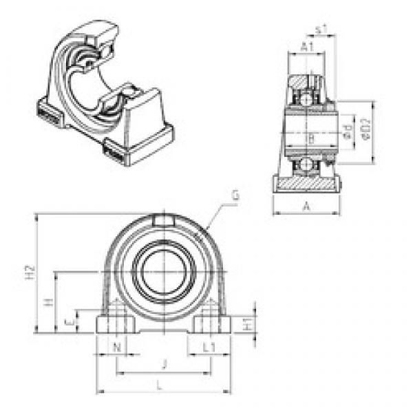 SNR UKPA209H bearing units #3 image