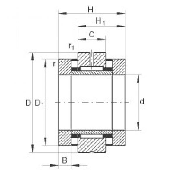 90 mm x 180 mm x 22,5 mm  INA ZARN90180-TV complex bearings #3 image