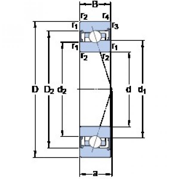 95 mm x 130 mm x 18 mm  SKF S71919 ACB/P4A angular contact ball bearings #3 image