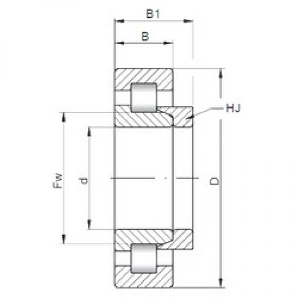 360 mm x 540 mm x 82 mm  ISO NH1072 cylindrical roller bearings #3 image