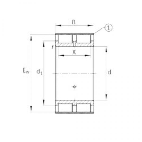 INA RSL185020-A cylindrical roller bearings #3 image
