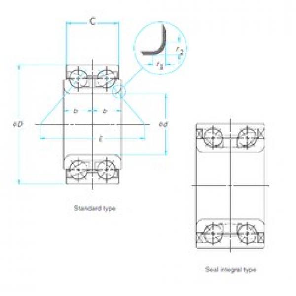 36 mm x 76 mm x 29,2 mm  SKF BA2B440190C angular contact ball bearings #3 image