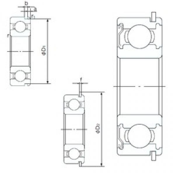 32 mm x 75 mm x 20 mm  NACHI 63/32ZENR deep groove ball bearings #3 image