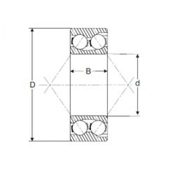40 mm x 80 mm x 30,2 mm  SIGMA 3208 angular contact ball bearings #3 image