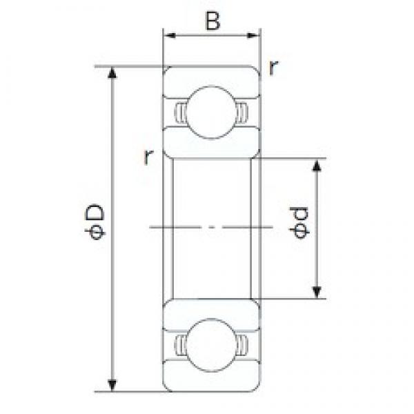 80 mm x 125 mm x 22 mm  NACHI 6016 deep groove ball bearings #3 image