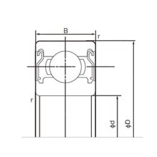 90 mm x 140 mm x 24 mm  NACHI 6018ZZ deep groove ball bearings #3 image