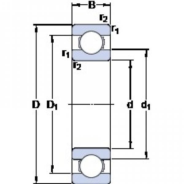 160 mm x 200 mm x 20 mm  SKF 61832 deep groove ball bearings #3 image