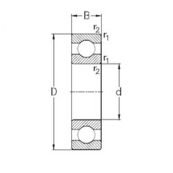 110 mm x 240 mm x 50 mm  NKE 6322 deep groove ball bearings #3 image