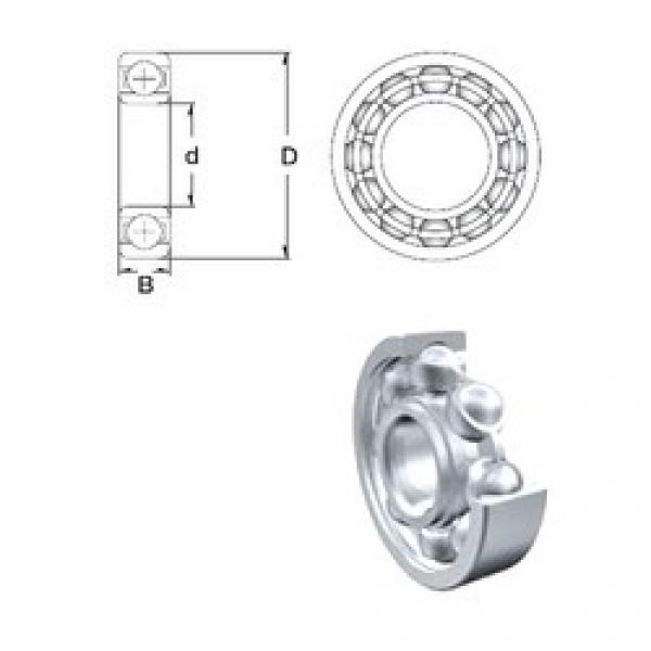 15,875 mm x 34,925 mm x 8,733 mm  ZEN SR10-2Z deep groove ball bearings #3 image