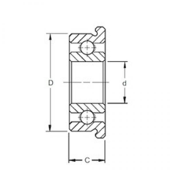 3 mm x 8 mm x 2,5 mm  ZEN SMF83 deep groove ball bearings #3 image