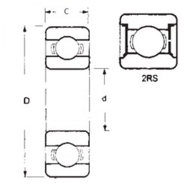 15 mm x 28 mm x 7 mm  FBJ 6902-2RS deep groove ball bearings #3 image