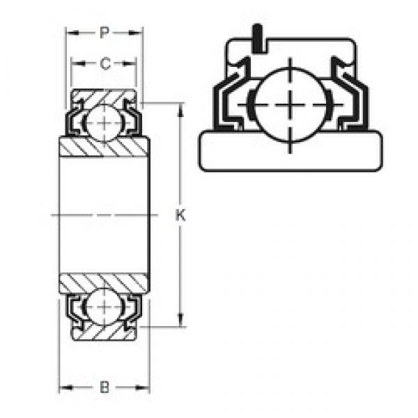 30 mm x 62 mm x 24 mm  Timken 206KLLG deep groove ball bearings #3 image