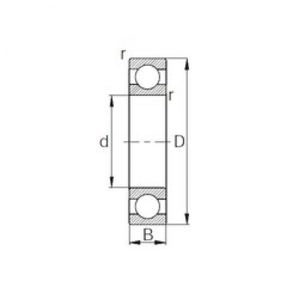 160 mm x 240 mm x 38 mm  CYSD 6032 deep groove ball bearings #3 image