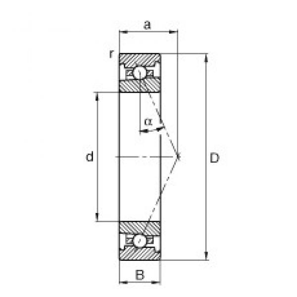 55 mm x 80 mm x 13 mm  FAG HS71911-E-T-P4S angular contact ball bearings #3 image
