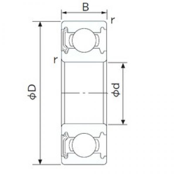 60 mm x 110 mm x 22 mm  NACHI 6212NKE deep groove ball bearings #3 image