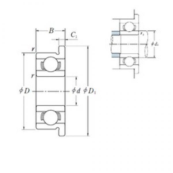 7,938 mm x 12,7 mm x 3,967 mm  ISO FR1810 deep groove ball bearings #3 image