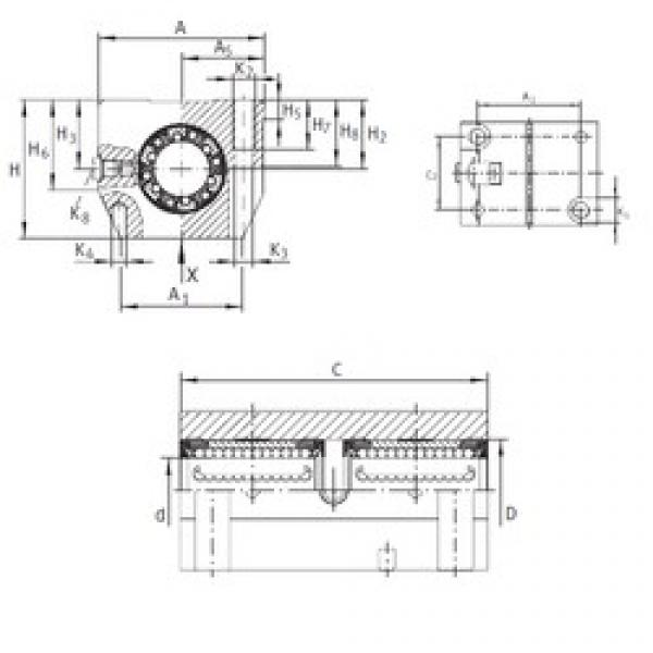 INA KTN 12 C-PP-AS linear bearings #3 image