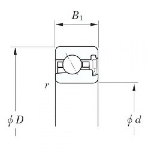127 mm x 146,05 mm x 11,1 mm  KOYO KJA050 RD angular contact ball bearings #3 image