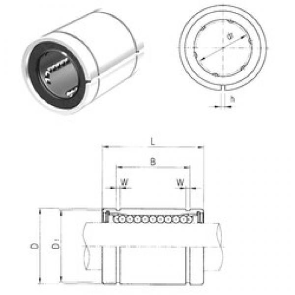 8 mm x 15 mm x 17,5 mm  Samick LM8AJ linear bearings #3 image