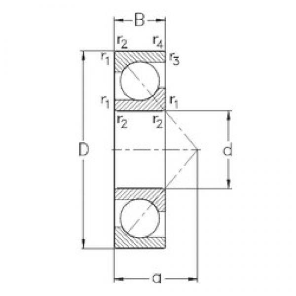 75 mm x 130 mm x 25 mm  NKE 7215-BECB-MP angular contact ball bearings #3 image