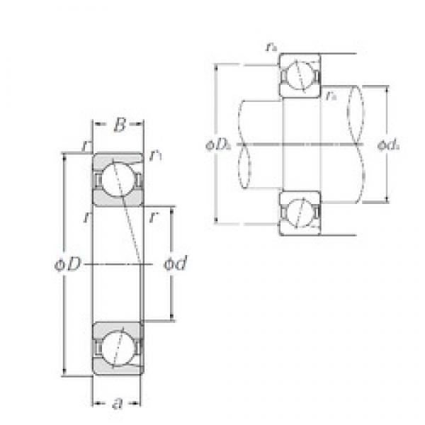 110 mm x 150 mm x 20 mm  NTN 7922C angular contact ball bearings #3 image