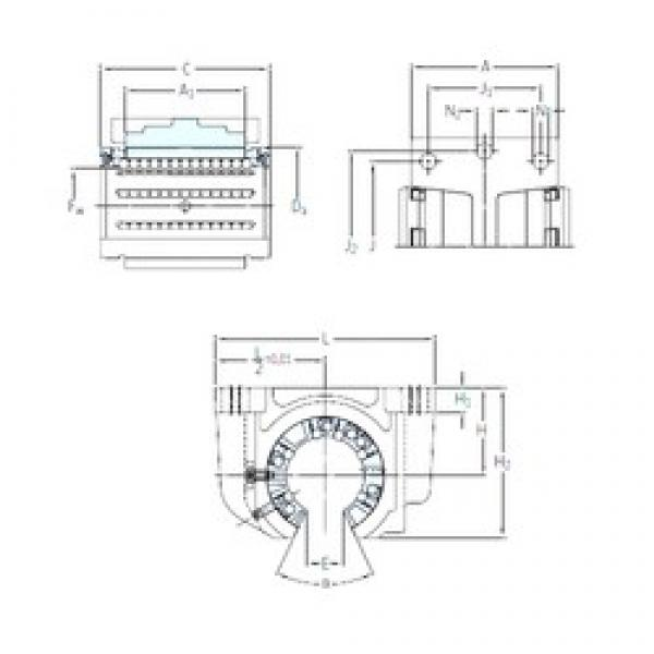 SKF LUCF 20-2LS linear bearings #3 image