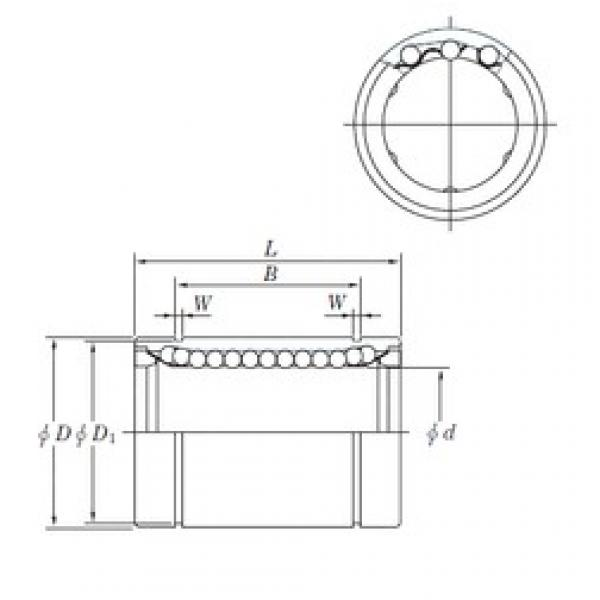 6 mm x 12 mm x 13.5 mm  KOYO SESDM 6 linear bearings #3 image