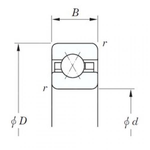 228,6 mm x 241,3 mm x 6,35 mm  KOYO KAX090 angular contact ball bearings #3 image