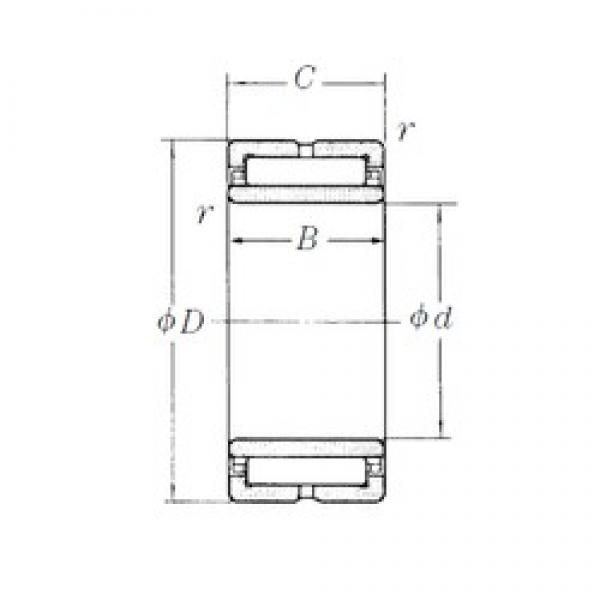 95 mm x 130 mm x 35 mm  NSK NA4919 needle roller bearings #3 image