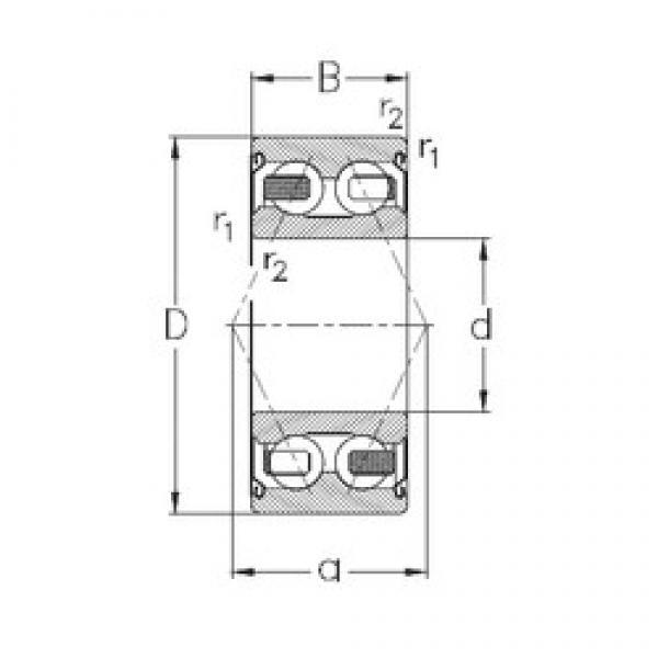 17 mm x 40 mm x 17,5 mm  NKE 3203-B-2Z-TV angular contact ball bearings #3 image