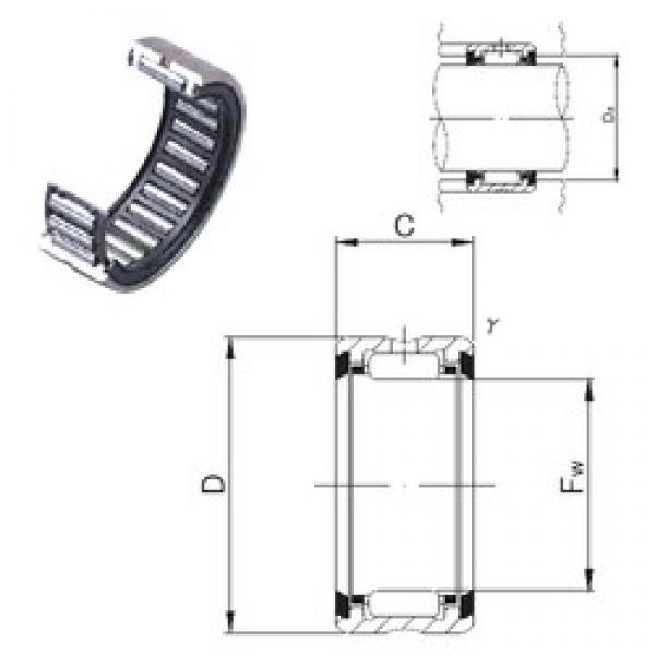 JNS RNA 6905UU needle roller bearings #3 image