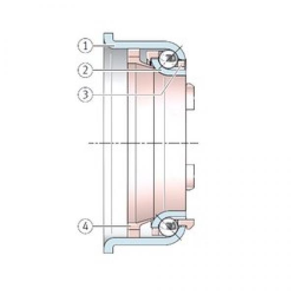 INA F-231121 angular contact ball bearings #3 image