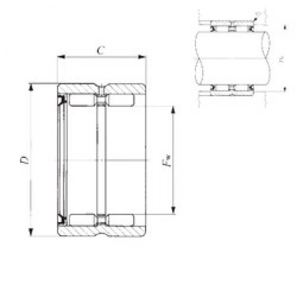IKO GBR 405228 U needle roller bearings #3 image