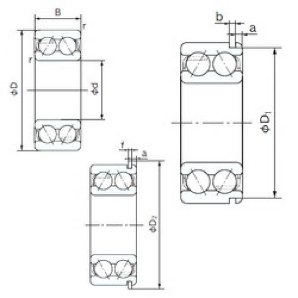 30 mm x 72 mm x 30.2 mm  NACHI 5306NR angular contact ball bearings #3 image
