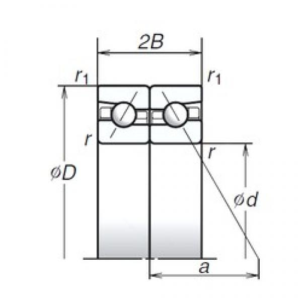 140 mm x 210 mm x 31,5 mm  NSK 140BAR10S angular contact ball bearings #3 image