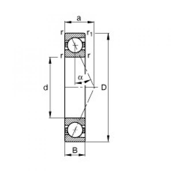 80 mm x 140 mm x 26 mm  FAG B7216-E-T-P4S angular contact ball bearings #3 image
