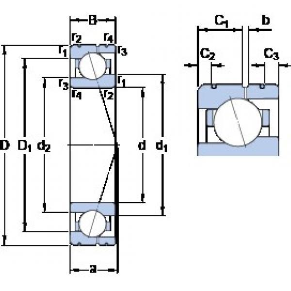 75 mm x 105 mm x 16 mm  SKF 71915 CE/P4AL angular contact ball bearings #3 image