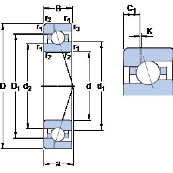 45 mm x 75 mm x 16 mm  SKF 7009 ACE/HCP4AH1 angular contact ball bearings #3 image