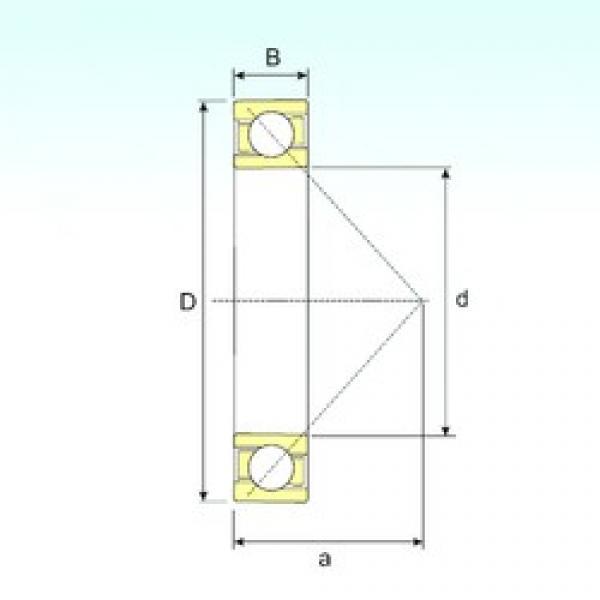 130 mm x 280 mm x 58 mm  ISB 7326 B angular contact ball bearings #3 image